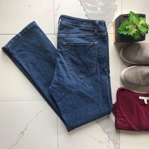 CAbi Denim Mid Rise Straight Leg Jeans